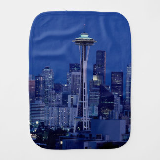 Wonderful Seattle Washington Downtown Space Needle Burp Cloth