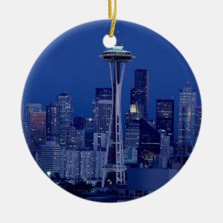 Wonderful Seattle Washington Downtown Space Needle Ceramic Ornament