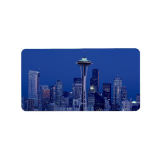 Wonderful Seattle Washington Downtown Space Needle Label