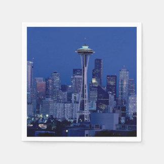 Wonderful Seattle Washington Downtown Space Needle Paper Napkin