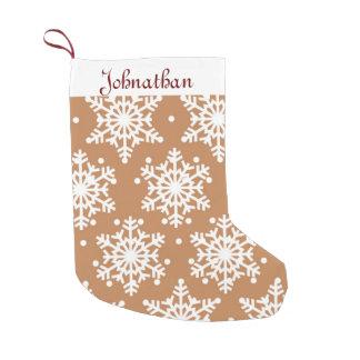 Wonderful Snowflakes Small Christmas Stocking