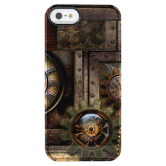 Wonderful steampunk design clear iPhone SE/5/5s case