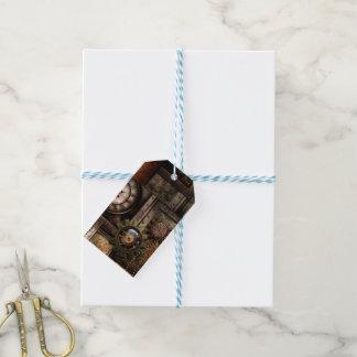 Wonderful steampunk design gift tags