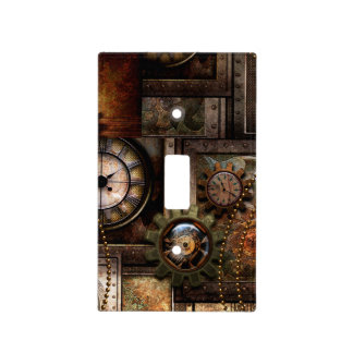 Wonderful steampunk design light switch cover