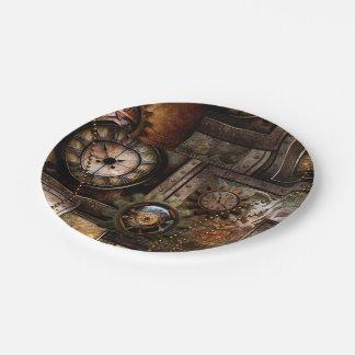 Wonderful steampunk design paper plate