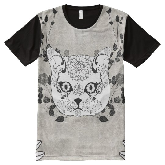 Wonderful sugar cat skull All-Over-Print T-Shirt