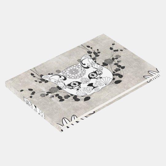 Wonderful sugar cat skull guest book