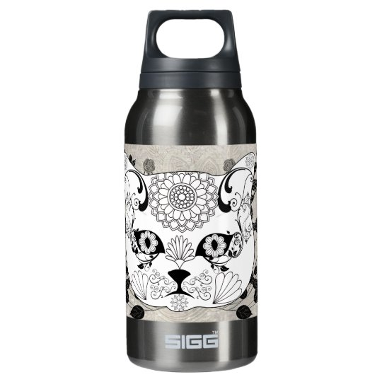 Wonderful sugar cat skull insulated water bottle
