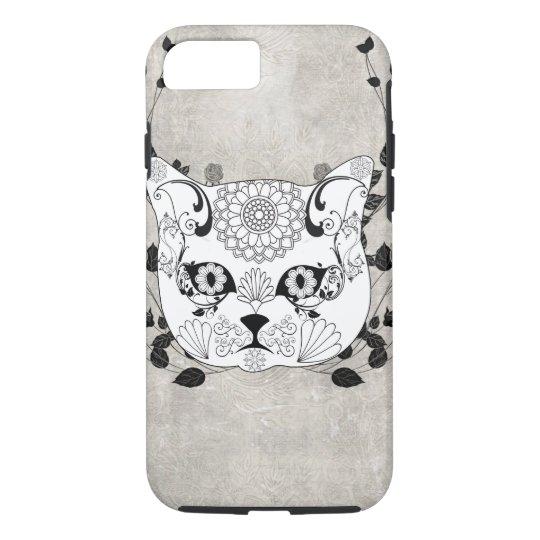 Wonderful sugar cat skull iPhone 7 case