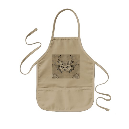 Wonderful sugar cat skull kids apron