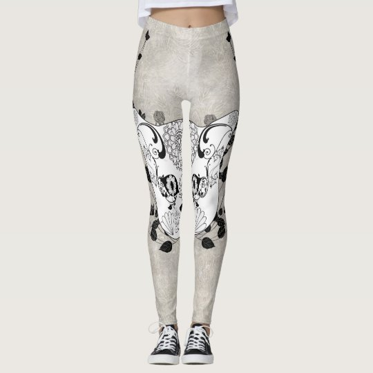 Wonderful sugar cat skull leggings