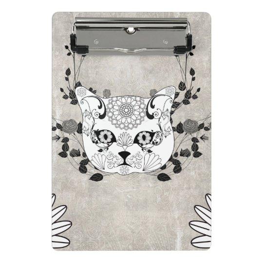 Wonderful sugar cat skull mini clipboard