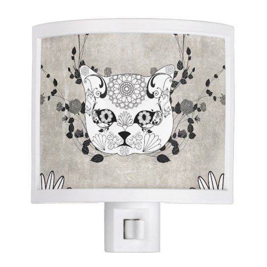 Wonderful sugar cat skull nite lite