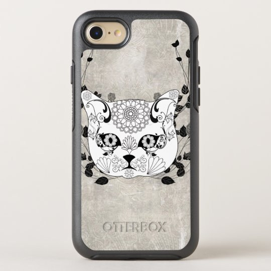 Wonderful sugar cat skull OtterBox symmetry iPhone 7 case