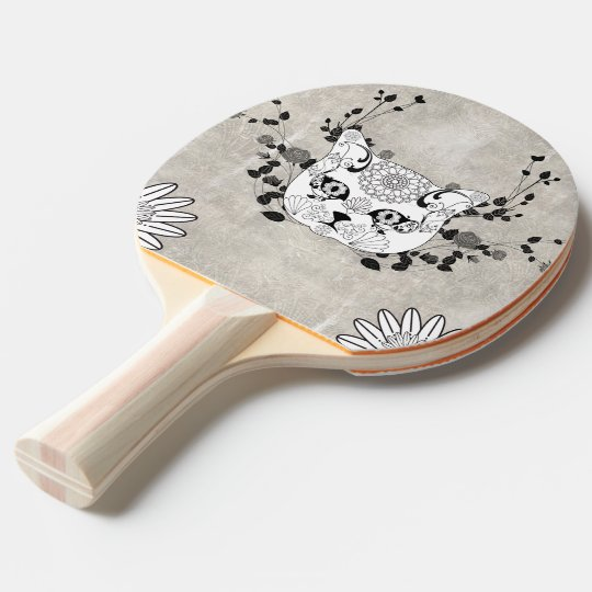 Wonderful sugar cat skull ping pong paddle