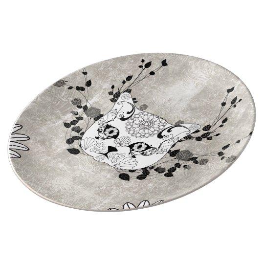 Wonderful sugar cat skull plate