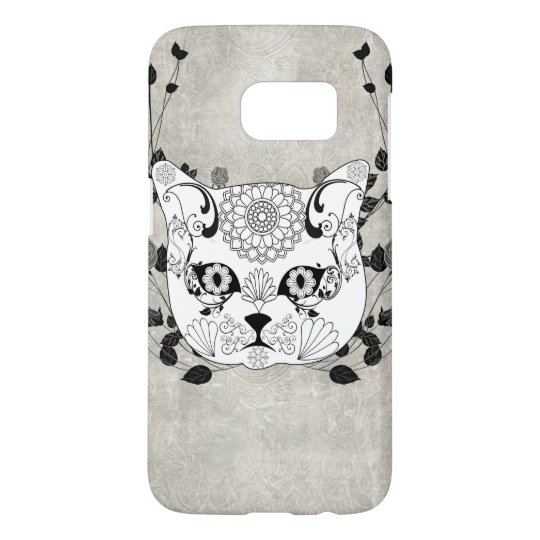Wonderful sugar cat skull samsung galaxy s7 case