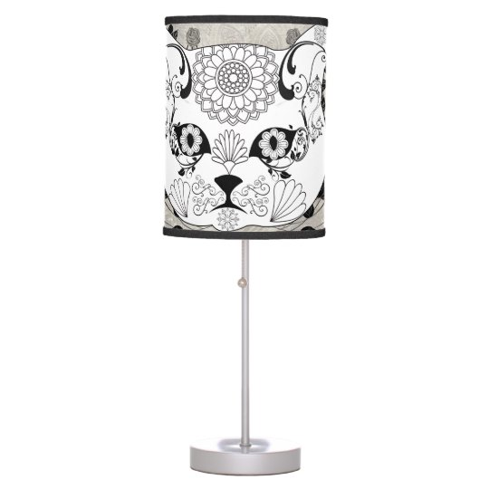 Wonderful sugar cat skull table lamp