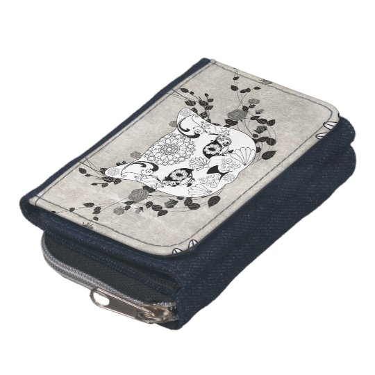 Wonderful sugar cat skull wallets