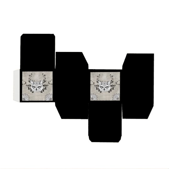 Wonderful sugar cat skull wedding favor box