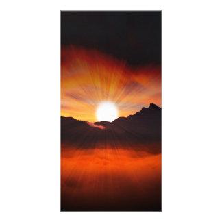 Wonderful Sunset Design Picture Card