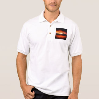 Wonderful Sunset Design Polo Shirt