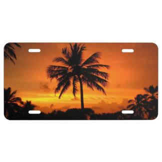 Wonderful Sunset License Plate