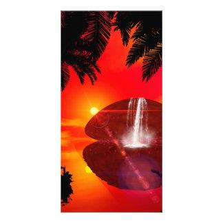 Wonderful sunset personalized photo card