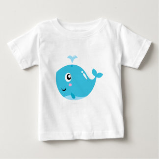 Wonderful t-shirts with Whale blue