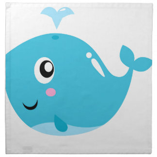 Wonderful t-shirts with Whale blue Napkin