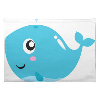 Wonderful t-shirts with Whale blue Placemat