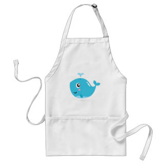 Wonderful t-shirts with Whale blue Standard Apron