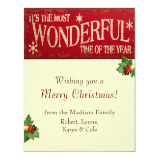 Wonderful Time Holiday Card