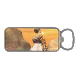 Wonderful view over the sea with waterfall magnetic bottle opener