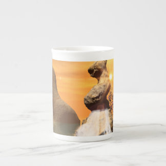 Wonderful view over the sea with waterfall tea cup