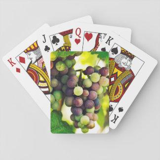 Wonderful Vine Grapes,  Autumn Fall Sun Playing Cards