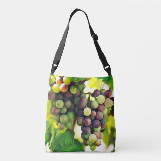 Wonderful Vine Grapes, Nature, Autumn Fall Sun Crossbody Bag
