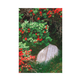 """Wonderful Waiheke"" - Pohutukawa Dinghy Canvas Print"