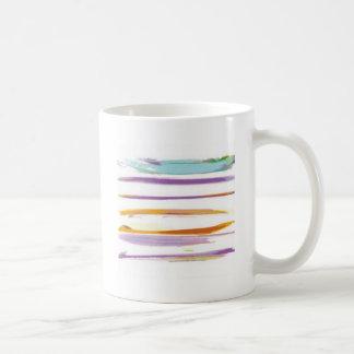 Wonderful watercolor brushes design coffee mugs