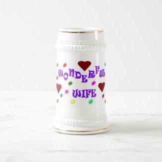 Wonderful wife beer mug