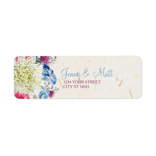 Wonderful Wildflowers Address Labels