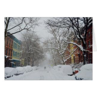 Wonderful Winter City Street Card