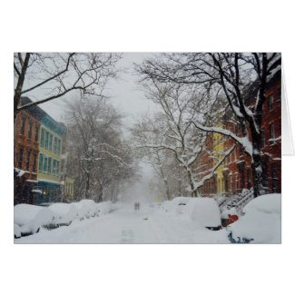 Wonderful Winter City Street Card
