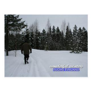 Wonderful Winters in Suomi Finland Postcard