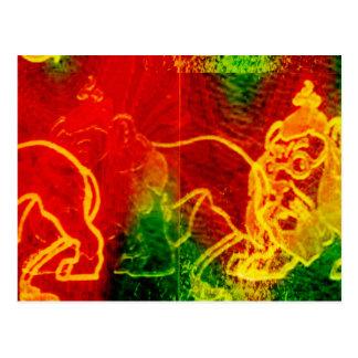 Wonderful Wizard of Oz Cowardly Lion Postcard