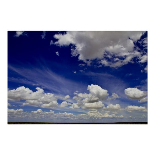 Wonderful World - Clouds of White Poster