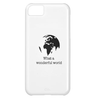 wonderful world iPhone 5C case