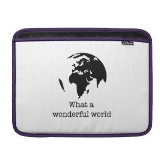 wonderful world MacBook sleeve