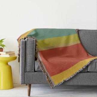 Wonderful World Palette Stripe Personalized Throw Blanket