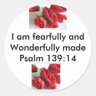 Wonderfully Made Classic Round Sticker